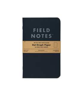 "Field Notes Pitch Black Dot-Graph 2 Pack of 4.75x7.5"" Notebooks"