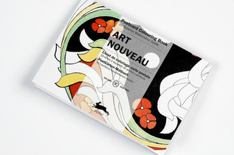 Pepin Postcard Colouring Book Art Nouveau