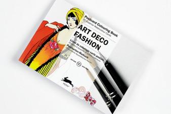 Pepin Postcard Colouring Book Art Deco Fashions