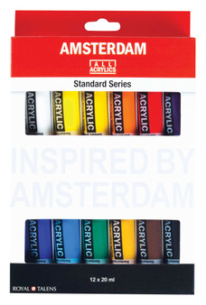 Amsterdam Acrylic Set of 12 Colors 20ml Tubes
