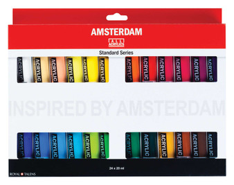 Amsterdam Acrylic Set of 24 Colors 20ml Tubes