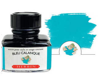 J. Herbin Fountain Pen Ink 30ml Bleu Calanque