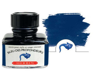 J. Herbin Fountain Pen Ink 30ml Bleu des Profondeurs