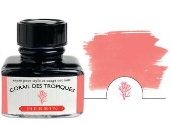 J. Herbin Fountain Pen Ink 30ml Corail des Tropiques