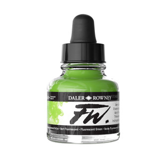 Daler-Rowney Fw Ink 1oz Fluorescent Green
