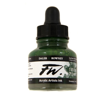 Daler-Rowney Fw Ink 1oz Sap Green