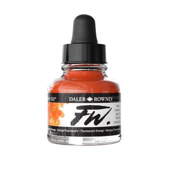 Daler-Rowney Fw Ink 1oz Fluorescent Orange