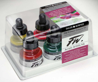 Daler-Rowney Fw Ink 1oz Set of 6 Primary