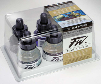 Daler-Rowney Fw Ink 1oz Set of 6 Shimmering Colors