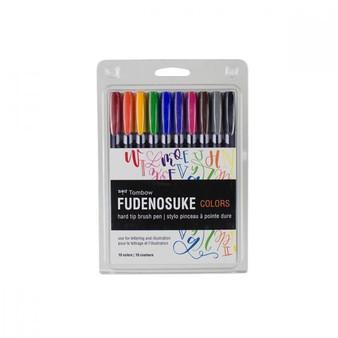 Tombow Fudenosuke Brush Pen Set of 10 Colors
