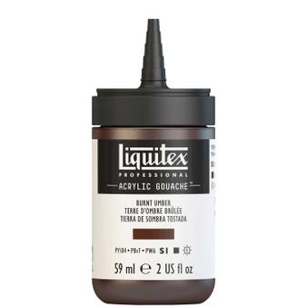 Liquitex Acrylic Gouache 2oz Bottle Burnt Umber