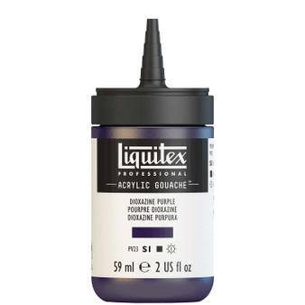 Liquitex Acrylic Gouache 2oz Bottle Dioxazine Purple