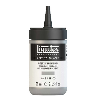 Liquitex Acrylic Gouache 2oz Bottle Bright Silver