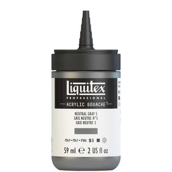 Liquitex Acrylic Gouache 2oz Bottle Neutral Grey 5