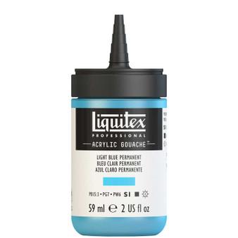 Liquitex Acrylic Gouache 2oz Bottle Light Blue Permanent
