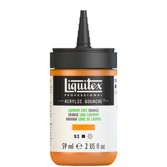 Liquitex Acrylic Gouache 2oz Bottle Cadmium-Free Orange