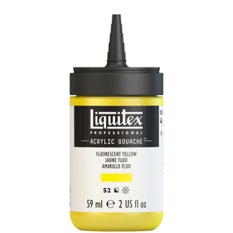 Liquitex Acrylic Gouache 2oz Bottle Fluorescent Yellow