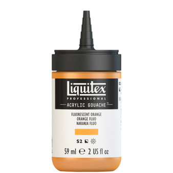 Liquitex Acrylic Gouache 2oz Bottle Fluorescent Orange