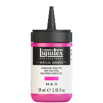 Liquitex Acrylic Gouache 2oz Bottle Fluorescent Pink