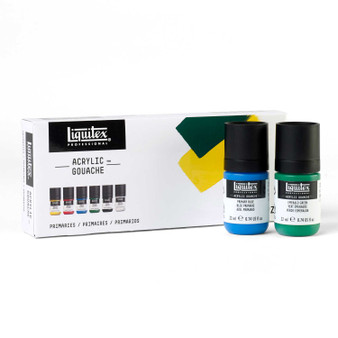 Liquitex Acrylic Gouache Set of 6 Primaries 22ml