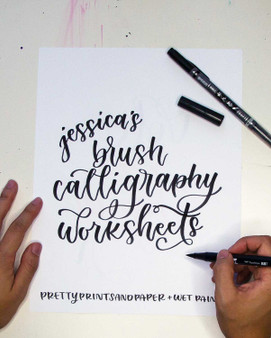 Jessica Chung Hand Lettering Set-1