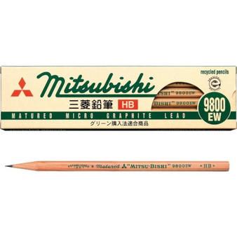 Mitsubishi Recycled Pencil 9800EW HB Dozen