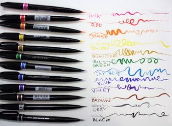 Pentel Sign Pen Micro Brush Set of 12