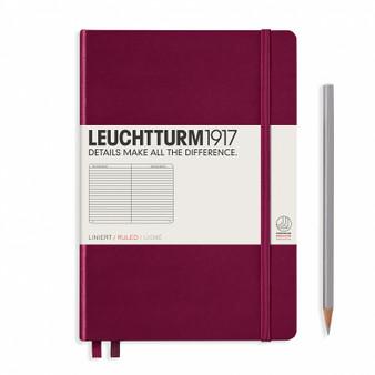Leuchtturm 1917 Hardcover Rule Notebook A5 Medium Port Red