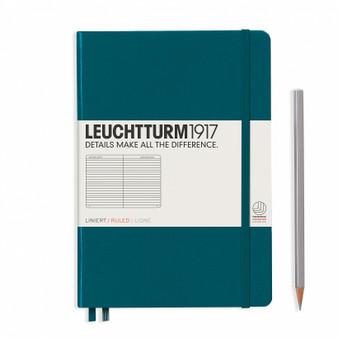 Leuchtturm 1917 Hardcover Rule Notebook A5 Medium Pacific Green