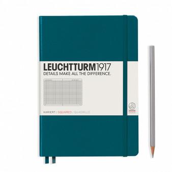 Leuchtturm 1917 Hardcover Grid Notebook A5 Medium Pacific Green