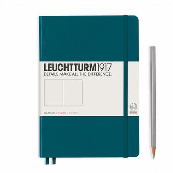 Leuchtturm 1917 Hardcover Blank Notebook A5 Medium Pacific Green
