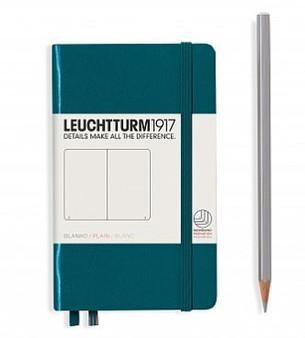 Leuchtturm 1917 Hardcover Blank Notebook A6 Pocket Pacific Green