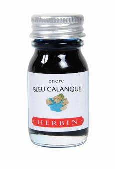 J. Herbin Fountain Pen Ink Bottled 10 ml Bleu Calanque