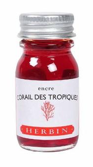 J. Herbin Fountain Pen Ink Bottled 10 ml Corail des Tropiques