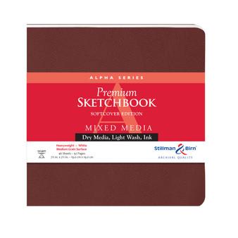 "Stillman & Birn Softcover Sketchbook Alpha Series 150g 7.5x7.5"" Square"