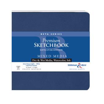 "Stillman & Birn Softcover Sketchbook Beta Series 150g 7.5x7.5"""