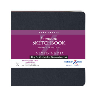 "Stillman & Birn Softcover Sketchbook Zeta Series 180lb 7.5x7.5"" Square"
