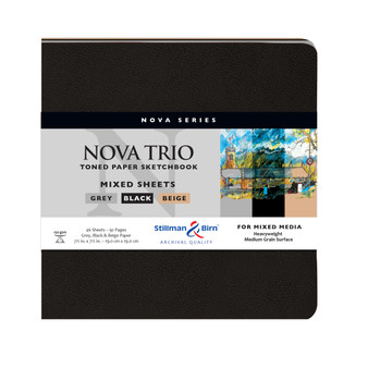 Stillman & Birn Nova Series Mixed Sheets Nova Trio Softcover Sketchbook 7.5x7.5""