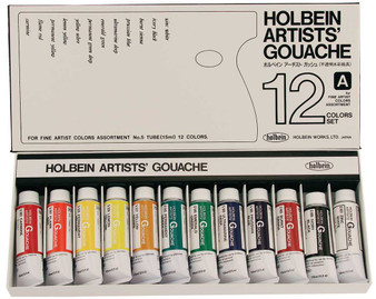 Holbein Artist Designers Gouache 15ml Set of 12