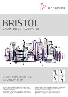 Hahnemuhle Bristol Pad 250gsm A4 8x11""