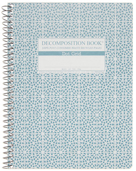 Michael Roger Press Decomposition Notebook Coilbound Dot Grid Mosaic