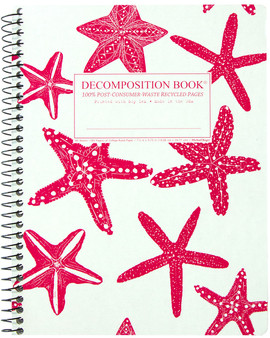 Michael Roger Press Decomposition Notebook Coilbound Ruled Starfish