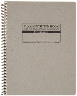 Michael Roger Press Decomposition Notebook Coilbound Slate Sketchbook