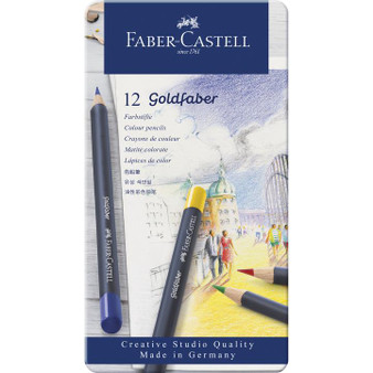 Faber-Castell Goldfaber Color Pencils Tin of 12