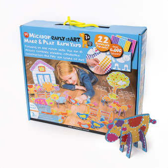 Micador early stART Make & Play 22-Piece Set Barnyard