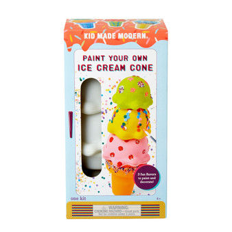 Kid Made Modern Paint Your Own Ice Cream Cone