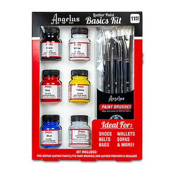 Angelus Leather Paint 1 oz. Basics Kit