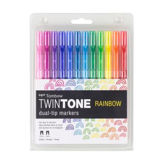 Tombow TwinTone Marker Set of 12 Rainbow
