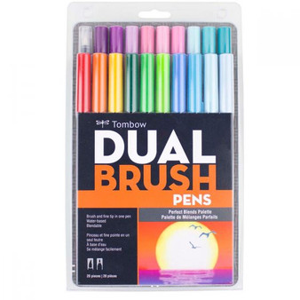 Tombow Dual Brush Pen Art Markers Set of 20 Perfect Blends