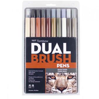 Tombow Dual Brush Pen Art Markers Set of 20 Neutral Palette